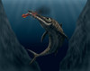 An Ophthalmosaurus catches a squid in the deep sea Poster Print - Item # VARPSTVVA600009P