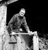 Man chopping firewood Poster Print - Item # VARSAL25540755