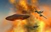 German Messerschmitt 262 jetfighter planes chasing a UFO Poster Print - Item # VARPSTMAS100731S