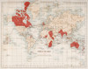Map Of The World Showing In Red The Extent Of The British Empire In 1901 Poster Print (8 x 10) - Item # MINDPI1857026