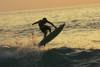 Hawaii, Big Island, Kona, Surfer At Sunset. PosterPrint - Item # VARDPI1982851