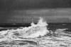 Rainfall and splashing waves with a lighthouse along the coast; Amble, Northumberland, England PosterPrint - Item # VARDPI12300939