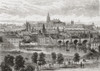 An Aerial View Of Prague, Czech Republic In The 19Th Century. From Pictures From The German Fatherland Published C.1880. PosterPrint - Item # VARDPI2220022