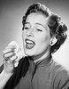 Close-up of a mid adult woman sneezing Poster Print - Item # VARSAL25526408