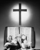 Easter Lilies and Bible with a cross in the background Poster Print - Item # VARSAL25526743