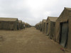 A row of tents at Red Beach, Camp Pendleton, California Poster Print - Item # VARPSTWOD100148M