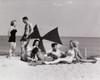 Three teenage couples on the beach Poster Print - Item # VARSAL2553221
