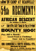 54th Regiment Recruiting Poster, 1863 Poster Print by Science Source - Item # VARSCIBV7013