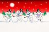 Dancing Snowmen Poster Print by P.S. Art Studios - Item # VARPDXPL1332