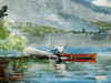 The Red Canoe Poster Print by Winslow Homer - Item # VARPDX3HO2159