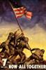 Iwo Jima Flag - Now All Together Poster Poster Print - Item # VARPYRPAS0313