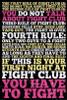 Fight Club - 8 Rules Poster Poster Print - Item # VARSCO30755