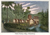 Textile Mill, 1837. /Nthe Hartford Manufacturing Company. Cotton Factory At Glastonbury, Connecticut. Wood Engraving, 1837. Poster Print by Granger Collection - Item # VARGRC0044946