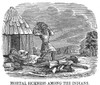 Native Americans: Smallpox, 1853. /Nnative American Victims Of A Smallpox Epidemic Spread By White Settlers In America. Wood Engraving, American, 1853. Poster Print by Granger Collection - Item # VARGRC0038530