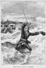 James Wolfe (1727-1759). /Nbritish Army Officer. General Wolfe Landing At Fort Louisbourg, Cape Breton Island, Preparing For Its Recapture From The French, 1758. Wood Engraving, 19Th Century. Poster Print by Granger Collection - Item # VARGRC0046432