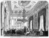 London: Club, 1849. /Nthe Principal Drawing Room Of The Military, Naval, And County Service Club At St. James'S Street, London. Wood Engraving, English, 1849. Poster Print by Granger Collection - Item # VARGRC0092563