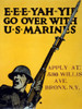 Wwi: Poster, 1917. /N'E-E-E-Yah-Yip Go Over With U.S. Marines.' Lithograph By Charles Buckley Falls, 1917. Poster Print by Granger Collection - Item # VARGRC0354439