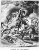 Tecumseh (1768?-1813). /Nnative American Shawnee Chief. The Death Of Tecumseh At The Battle Of The Thames During The War Of 1812, 5 October 1813. Lithograph, 1841, By Nathaniel Currier. Poster Print by Granger Collection - Item # VARGRC0006390