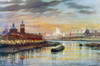 Russia: Moscow, 1896. /Nthe City Of Moscow Illuminated For The Coronation Of Tsar Nicholas Ii, 1896. Watercolor, 1899. Poster Print by Granger Collection - Item # VARGRC0128860