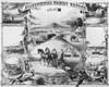 Advertisement: Plow, 1881. /N'Allegorical Family Record.' Advertisement Lithograph For The Moline Plow Co. Of Moline, Illinois, 1881. Poster Print by Granger Collection - Item # VARGRC0092899