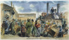 European Immigrants, Nyc. /Narriving In New York City: Colored Engraving, 1858. Poster Print by Granger Collection - Item # VARGRC0008840