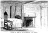 Hawthorne House. /Nthe Room Of The House At Salem, Massachusetts, In Which Nathaniel Hawthorne Was Born On 4 July 1804. Wood Engraving, American, Mid-19Th Century. Poster Print by Granger Collection - Item # VARGRC0039570