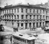 San Francisco, C1866. /Nexterior Of The Wells Fargo & Company Express Office In San Francisco, At The Corner Of Montgomery And California Streets. Photograph, C1866. Poster Print by Granger Collection - Item # VARGRC0108554