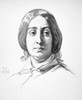 George Sand (1804-1876). /Nfrench Writer. Lithograph, French, 1850. Poster Print by Granger Collection - Item # VARGRC0001923