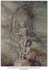 Andersen: Little Mermaid. /N'She Put Her Arms Round The Marble Figure Which Was So Like The Prince.' Drawing By Arthur Rackham For The Fairy Tale By Hans Christian Andersen. Poster Print by Granger Collection - Item # VARGRC0079008