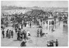 Atlantic City Beach, 1890. /N'The Bathing Hour On The Beach At Atlantic City.' Wood Engraving, American, After Frank H. Schell, 1890. Poster Print by Granger Collection - Item # VARGRC0088328