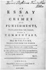 Beccaria: Title Page. /Ntitle Page Of Cesare Beccaria'S 'An Essay On Crimes And Punishment,' Owned By John Adams And Given To His Son Thomas In 1800, As Indicated By The Dedication At The Top. Poster Print by Granger Collection - Item # VARGRC0106867