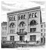 Nyc: Italian School, 1875. /Nthe Exterior Of The Italian School On Leonard Street In New York City. Engraving, 1875. Poster Print by Granger Collection - Item # VARGRC0265346