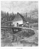 Canada: Countryside, 1883. /Nan Old Mill. Engraving, 1883. Poster Print by Granger Collection - Item # VARGRC0094411