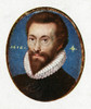 John Donne (1572-1631). /Nenglish Poet. Reproduction Of A Miniature Painted In 1616 By Isaac Oliver. Poster Print by Granger Collection - Item # VARGRC0266443
