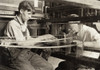 Hine: Child Labor, 1924. /Na Young Worker And An Older Worker Weaving Silk At The Cheney Silk Mill In Manchester, Connecticut. Photograph By Lewis Hine, 1924. Poster Print by Granger Collection - Item # VARGRC0170003