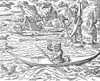Eskimos Hunting, 1580. /Neskimos Hunting Sea Birds. /Nwoodcut, German, 1580. Poster Print by Granger Collection - Item # VARGRC0016341