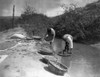 Curtis: Washing Wheat. /Ntwo Native Americans Near San Juan, New Mexico, Washing Wheat In An Irrigation Ditch. Photograph By Edward Curtis, C1905. Poster Print by Granger Collection - Item # VARGRC0170260