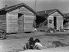 Migrant Housing, 1936. /Nchildren Playing In Front Of Housing For Migrant Cotton Workers Near Corcoran, California. Photograph By Dorothea Lange, November 1936. Poster Print by Granger Collection - Item # VARGRC0123092