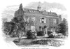 Charles Dickens (1812-1870). /Nenglish Novelist. Dickens' Home At Gad'S Hill Place, Near Rochester, Kent, England. Wood Engraving, English, 1870. Poster Print by Granger Collection - Item # VARGRC0057257