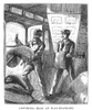 Postal Services, 1875. /Ncatching Mail At Railway Stations Between New York And Chicago, Illinois. Wood Engraving, 1875. Poster Print by Granger Collection - Item # VARGRC0064423