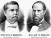Presidentail Campaign, 1880. /Nwinfield S. Hancock And William H. English As The Democratic Party Candidates For President And Vice President. Lithograph Campaign Poster, 1880. Poster Print by Granger Collection - Item # VARGRC0016959