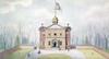 Carpenter'S Hall. /Ncarpenter'S Hall On Chestnut Street In Philadelphia. Watercolor, American, C1875. Poster Print by Granger Collection - Item # VARGRC0125623