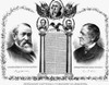 Presidential Campaign, 1888. /Nbenjamin Harrison And Levi P. Morton As The Republican Party Candidates For President And Vice President. Lithograph Poster, 1888. Poster Print by Granger Collection - Item # VARGRC0045673