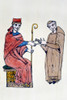 Gregory Vii (C1020-1085). /Npope, 1073-1085. With The Abbot Of St. Sophia. Manuscript Illumination, 12Th Century. Poster Print by Granger Collection - Item # VARGRC0045938