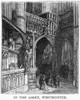 Dor_: London: 1872. /N'In The Abbey, Westminster.' Wood Engraving After Gustave Dor_ From 'London: A Pilgrimage,' 1872. Poster Print by Granger Collection - Item # VARGRC0354648