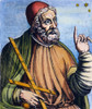Ptolemy (2Nd Century A.D.). /Nalexandrian Astronomer, Mathematician And Geographer: Colored Line Engraving, French, 1584. Poster Print by Granger Collection - Item # VARGRC0008390