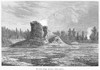 Yellowstone Park: Geyser. /Nthe Giant Geyser In Yellowstone National Park, Montana. Wood Engraving, English, 1873. Poster Print by Granger Collection - Item # VARGRC0095591