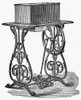 Sewing Machine. /Nwillcox & Gibbs Sewing Machine. Line Engraving, American, Mid 19Th Century. Poster Print by Granger Collection - Item # VARGRC0097655