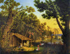 Log Cabin, C1870. /Nsettlers Outside Of A Log Cabin With A Steamboat On The River In Background In Rural America. Color Lithograph, C1870. Poster Print by Granger Collection - Item # VARGRC0124604