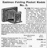 Camera Advertisement, 1900. /Nan Eastman Folding Pocket Kodak. Catalogue Advertisement, 1900. Poster Print by Granger Collection - Item # VARGRC0006733